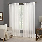 Willow Sheer 84-Inch Back Tab Window Curtain Panel in White