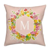Spring Abstract 18-Inch x 18-Inch Square Indoor Throw Pillow