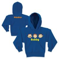 Curious George Size 14/16 Silly Faces Pullover Hoodie in Blue