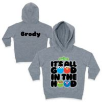 """Sesame Street Size 4T """"It's All Good in the Hood"""" Pullover Hoodie in Grey"""