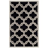 Safavieh Amherst Belle 2-Foot 6-Inch x 4-Foot Indoor/Outdoor Accent Rug in Anthracite/Ivory