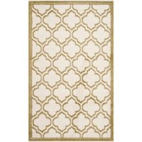 Safavieh Amherst Belle 3-Foot x 5-Foot Indoor/Outdoor Area Rug in Grey/Light Green