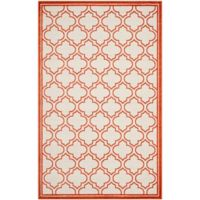 Safavieh Amherst Belle 6-Foot x 9-Foot Indoor/Outdoor Area Rug in Ivory/Orange