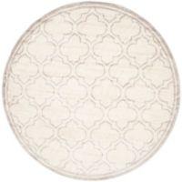 Safavieh Amherst Belle 7-Foot Round Indoor/Outdoor Area Rug in Ivory/Light Grey