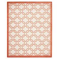 Safavieh Amherst Belle 9-Foot x 12-Foot Indoor/Outdoor Area Rug in Ivory/Orange