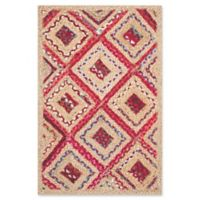 Safavieh Cape Cod Diamond Tiles 2-Foot 3-Inch x 4-Foot Accent Rug in Red