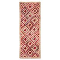 Safavieh Cape Cod Diamond Tiles 2-Foot 3-Inch x 6-Foot Runner in Red