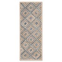 Safavieh Cape Cod Diamond Tiles 2-Foot 3-Inch x 8-Foot Runner in Blue
