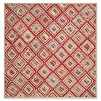 Safavieh Cape Cod Diamond Tiles 6-Foot Square Area Rug in Red