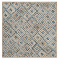 Safavieh Cape Cod Diamond Tiles 8-Foot Square Area Rug in Blue
