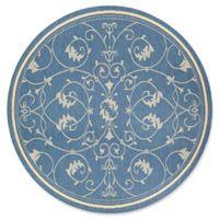 Couristan® Recife Veranda 8-Foot 6-Inch Round Area Rug in Champagne/Blue