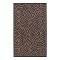 Courtisan Recife Zebra 5-Foot x 7.5-Foot Area Rug in Black/Cocoa