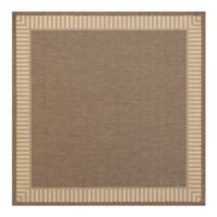 Couristan® Recife Wicker Stitch 8-Foot 6-Inch Square Indoor/Outdoor Area Rug in Cocoa