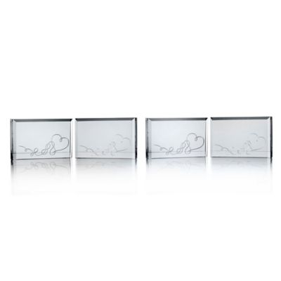 mikasa love story place card holder set of 4
