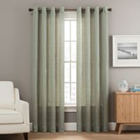 Weston 95-Inch Grommet Top Window Curtain Panel in Green
