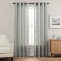 Weston 95-Inch Grommet Top Window Curtain Panel in Blue