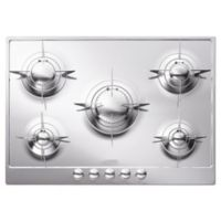 SMEG Piano Design 28-Inch Gas Cooktop in Polished Stainless Steel