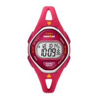 Timex® Ironman® Ladies' 34mm Sleek 50 Mid-Size Watch in Pink Resin with Silicone Strap