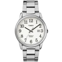 Timex® Easy Reader® Men's 38mm Classic White Dial Watch in Stainless Steel