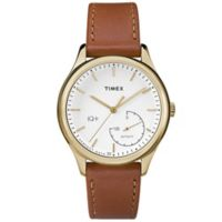 Timex® Women's 37mm IQ+ Move Activity Tracker Watch in Brown/Gold