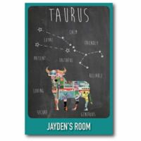 Courtside Market Taurus Zodiac Canvas Wall Art