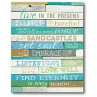 """Courtside Market """"Live in the Present"""" Canvas Wall Art"""