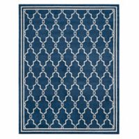 Safavieh Amherst Quake 10-Foot x 14-Foot Indoor/Outdoor Area Rug in Navy/Beige