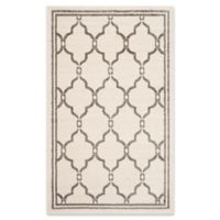 Safavieh Amherst Quake 3-Foot x 5-Foot Indoor/Outdoor Area Rug in Ivory/Grey