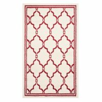Safavieh Amherst Quake 4-Foot x 6-Foot Indoor/Outdoor Area Rug in Ivory/Red