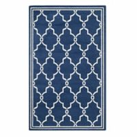 Safavieh Amherst Quake 4-Foot x 6-Foot Indoor/Outdoor Area Rug in Navy/Beige