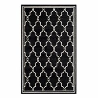 Safavieh Amherst Quake 4-Foot x 6-Foot Indoor/Outdoor Area Rug in Anthracite/Ivory