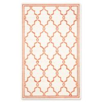 Safavieh Amherst Quake 5-Foot x 8-Foot Indoor/Outdoor Area Rug in Beige/Orange
