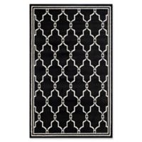 Safavieh Amherst Quake 5-Foot x 8-Foot Indoor/Outdoor Area Rug in Anthracite/Ivory