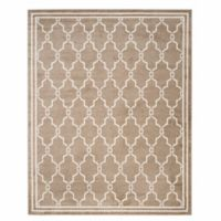 Safavieh Amherst Quake 9-Foot x 12-Foot Indoor/Outdoor Area Rug in Wheat/Beige