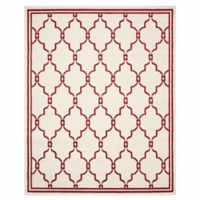 Safavieh Amherst Quake 9-Foot x 12-Foot Indoor/Outdoor Area Rug in Ivory/Red