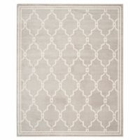 Safavieh Amherst Quake 10-Foot x 14-Foot Indoor/Outdoor Area Rug in Light Grey/Ivory