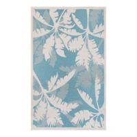 Couristan Monaco 5-Foot 10-Inch x 9-Foot 2-Inch Area Rug in Ivory/Turquoise
