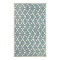Couristan Monaco Ocean Port 3-Foot 9-Inch x 5-Foot 5-Inch Indoor/Outdoor Area Rug in Turquoise