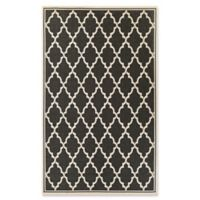 Couristan Monaco Ocean Port 5-Foot 3-Inch x 7-Foot 6-Inch Indoor/Outdoor Area Rug in Black/Sand