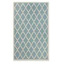 Couristan Monaco Ocean Port 5-Foot 3-Inch x 7-Foot 6-Inch Indoor/Outdoor Area Rug in Turquoise