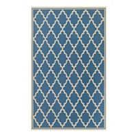 Couristan Monaco Ocean Port 5-Foot 10-Inch x 9-Foot 2-Inch Indoor/Outdoor Area Rug in Azure/Sand