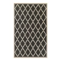 Couristan Monaco Ocean Port 7-Foot 6-Inch x 10-Foot 9-Inch Indoor/Outdoor Area Rug in Black/Sand