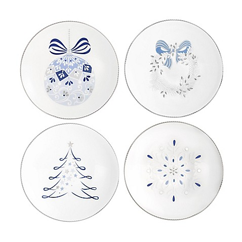 Buy auratic binche christmas canap plates set of 4 from for Christmas canape plates