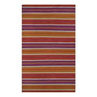 Couristan Cottages Coral Cay 5-Foot x 8-Foot Indoor/Outdoor Area Rug in Fruit Punch