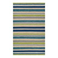 Couristan® Cottages Alki 3-Foot x 5-Foot Accent Rug in Ocean Blue