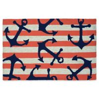 Couristan® Covington Accents Anchors Away 2-Foot x 3-Foot Accent Rug in Coral