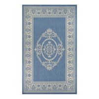Couristan® Recife Antique Medallion 3-Foot 9-Inch x 5-Foot 5-Inch Area Rug in Blue