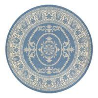 Couristan® Recife Antique Medallion 8-Foot 6-Inch Round Indoor/Outdoor Area Rug in Blue