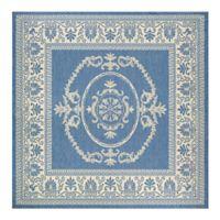 Couristan® Recife Antique Medallion 8-Foot 6-Inch Square Indoor/Outdoor Area Rug in Blue