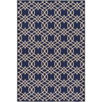 Surya Sonya Medallion 1-Foot 10-Inch x 3-Foot Accent Rug in Dark Blue